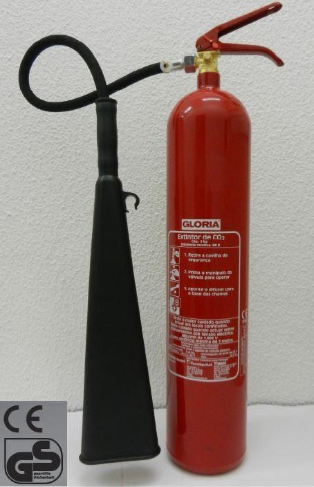 Extintor CO2 GLORIA KS 2 ST / KS 5 ST