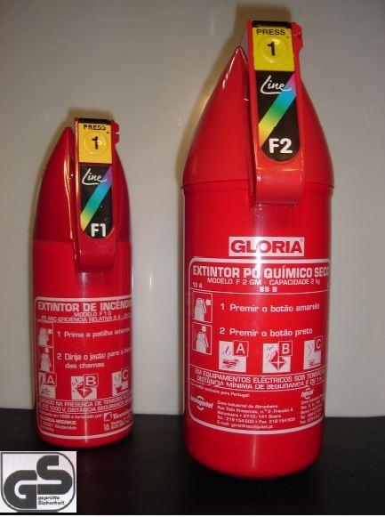 Extintor Pó Químico Seco GLORIA F2GM/F1G