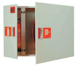 Carretel com Armário e Cofre para Equip. S.I. e Braço Basculante para Montagem Encastrada ou Saliente