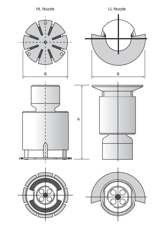 Difusores para Ilhas de Enchimento de Cisternas K40 / K20LL